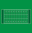 american football field with green stripes vector image