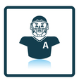 American football player icon vector image