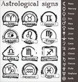 astrological signs vector image