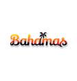 bahamas summer holidays beach sign symbol vector image vector image