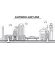 baltimore maryland architecture line skyline vector image vector image