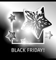 black friday banner with flying black stars vector image vector image