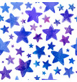 blue watercolor painted stars seamless vector image vector image