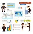 Business Infographic Workflow vector image vector image