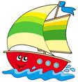 cartoon sailboat vector image