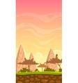 Cartoon savanna landscape vector image vector image