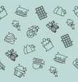 chocolate concept icons pattern vector image vector image