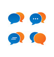 colorful bubble chat icon pack vector image vector image