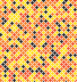 Colorful geometric cross pixel seamless pattern vector image vector image