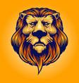 cool head lion logo vector image vector image