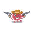 coronavirus disease as cowboy cartoon holding guns vector image vector image