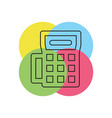 credit card machine icon - payment terminal vector image vector image