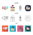 design of dreams and night logo set of vector image vector image