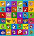 design with cartoon farm animals vector image vector image
