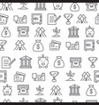 different line style icons seamless pattern bank vector image vector image