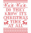 do they know its christmas time at all scandinavia vector image vector image