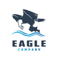 eagle logo design preys on fish vector image