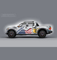 editable template for wrap suv with usa flag and vector image vector image
