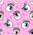 eyeball pattern fashion background vector image