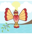 Fantastic bird on a branch vector image