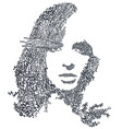 female women print women print girldesign vector image vector image