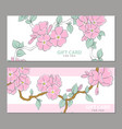 gently pink flowers on a light background vector image vector image