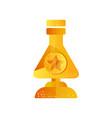 golden flask award trophy science vector image vector image