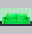 green modern luxury sofa for living room vector image vector image