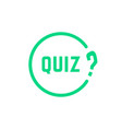 green round simple quiz icon vector image