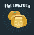 happy halloween a pumpkin vector image