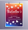 happy valentines day event flyer design template vector image