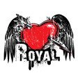 heart emblem vector image vector image