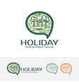 holiday logo design vector image