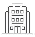 hotel thin line icon architecture and travel vector image vector image