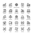 industrial and construction line icons set vector image