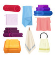 kitchen and bathroom towels isolated set vector image vector image
