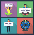 lottery design concept set with winning vector image vector image