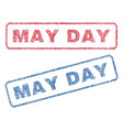 may day textile stamps vector image vector image