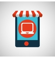 mobile phone e-commerce and laptop vector image vector image