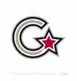 modern professional letter emblem for sport teams vector image vector image