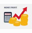 money profit concept vector image vector image