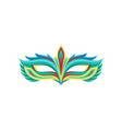 multi colored festival mask in flat style vector image