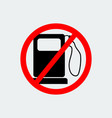 no gas pump icon vector image