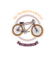 old bicycle emblem vector image vector image