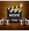 online movie and television background with vector image vector image