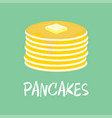 pancake with butter vector image