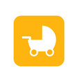 pram flat icon or object baby things motherhood vector image vector image