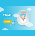 realistic detailed 3d travel and tourism banner vector image vector image