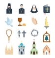 Religion icons vector image vector image