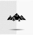 rocks hill landscape nature mountain glyph icon vector image